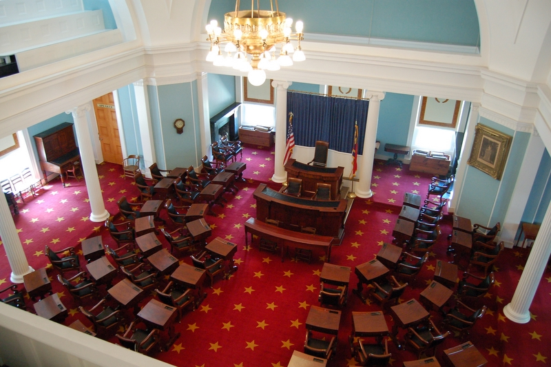 view from the balcony in the capitol