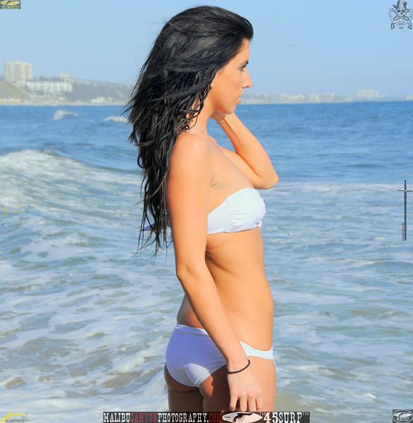 beautiful woman sunset beach swimsuit model 45surf 515..