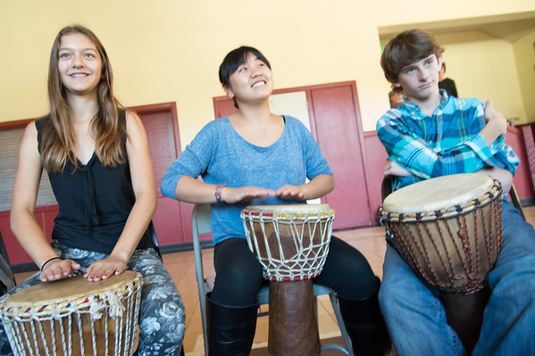 8th Grade African Drumming