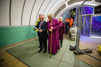 Bishop Sarah Blesses Tyne Pedestrian and Cycle Tunnel
