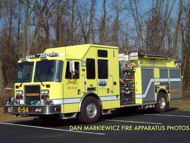 LONDONDERRY FIRE CO. ENGINE 54 2008 KME PUMPER