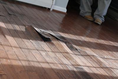 Floor water damage