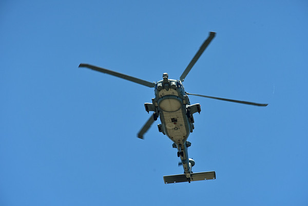 Navy Chopper over Jekyll Island 04-30-19