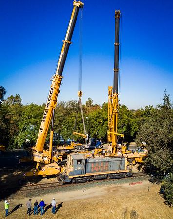 Santa Fe Locomotive Crane Ops