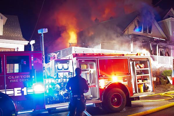 Clifton NJ 4th alarm, 113 & 115 E. 6th St. 04-16-15