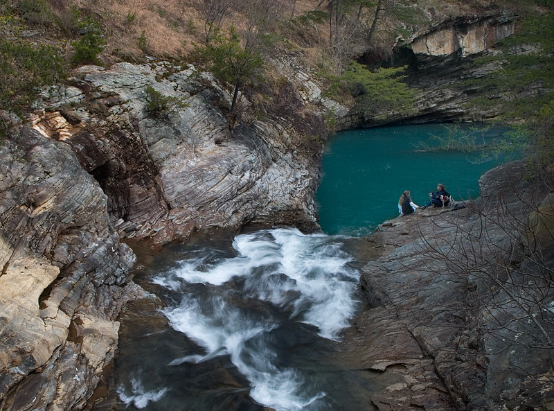 Falls above Lula Lake on Rock Creek