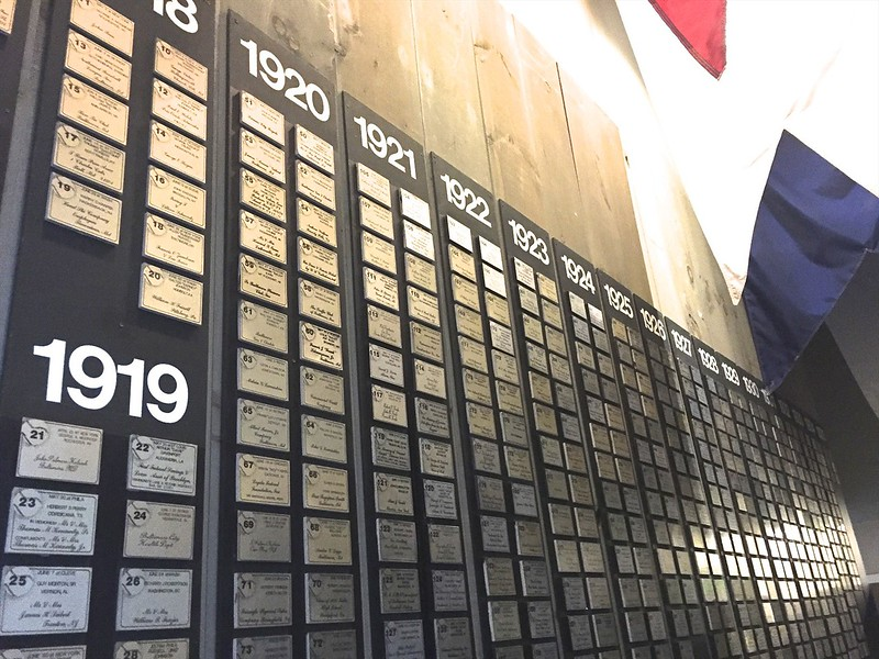 This display depicts every one of the Babe's 714 home runs.