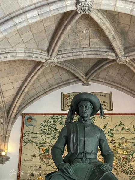 Statue of Vasco da Gama, Museu de Marinha (Navy Museum), Lisbon, Portugal.