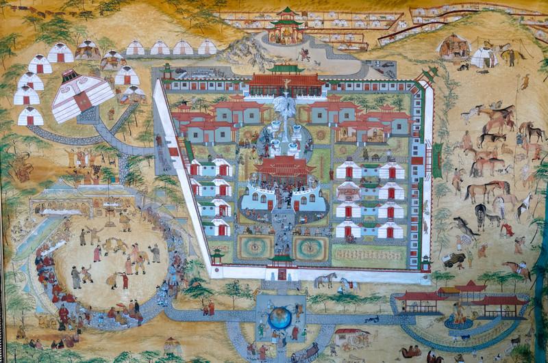 Der Lageplan des Hotels als alte Karte.