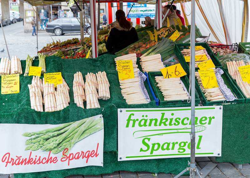 White Asparagus in the Nuremberg Market