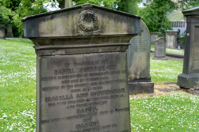 Grave in Greyfriars Cemetery in Edinburgh