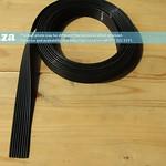 SKU: F-INK/TUBE4/UV, 8 Tubes in a Row, 4mm Solvent/UV Resistant Ink Tubes, Per Meter (Black)