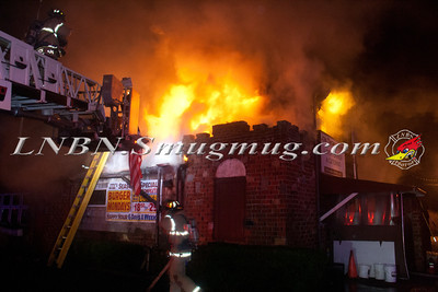 Bay Shore F.D. Working Commercial Fire at the Jon Thomas Inne 91 Howells Rd. 12-5-13