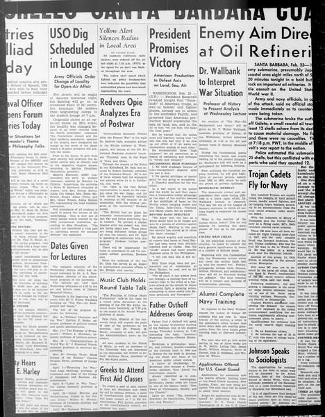 Daily Trojan, Vol. 33, No. 77, January 02, 1942