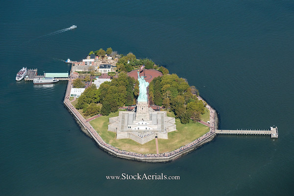 Aerial Photography Statue of Liberty
