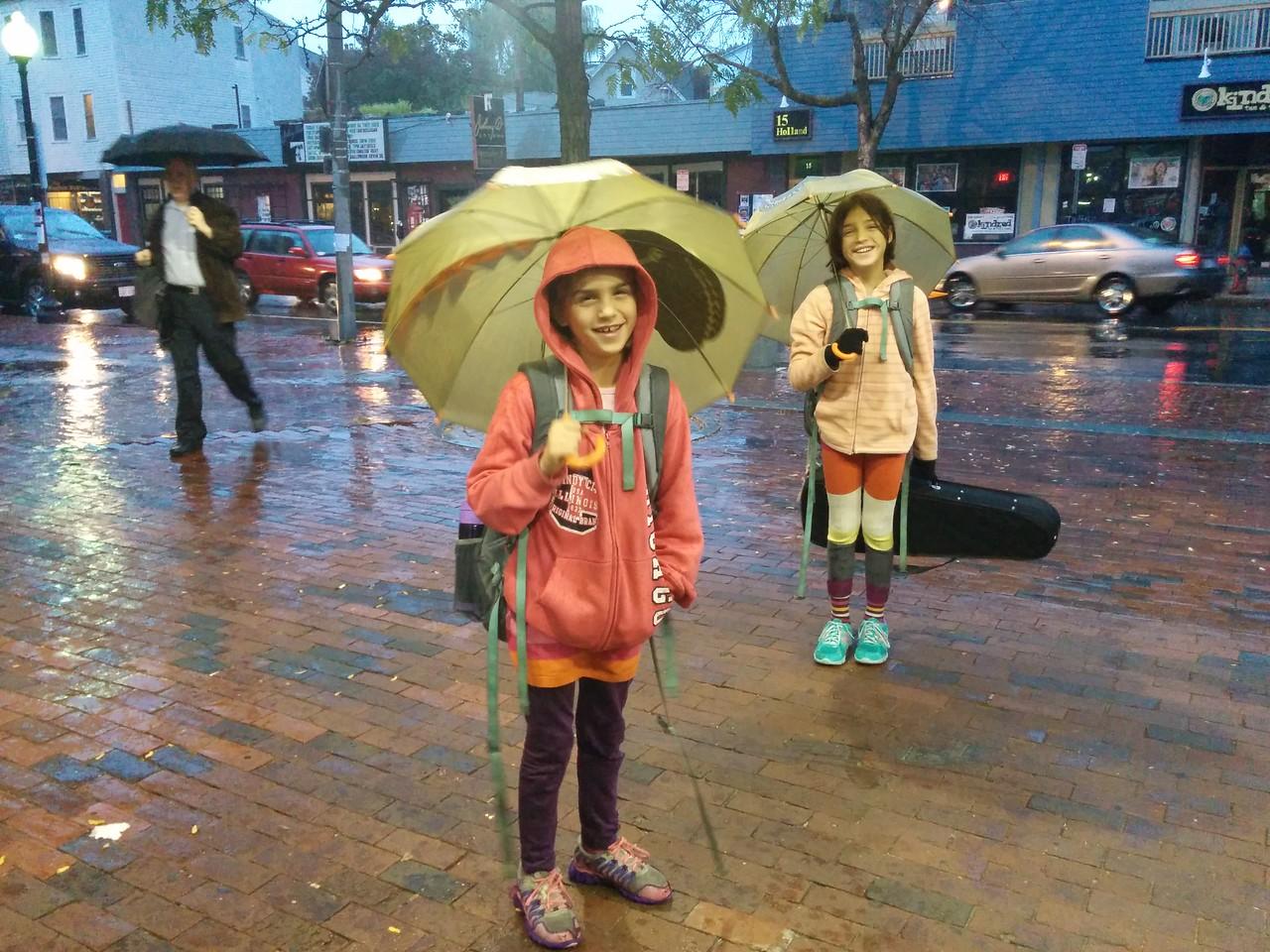 Rain on the w
