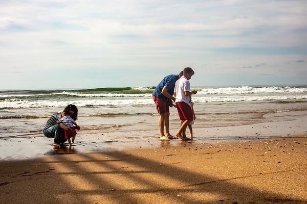 K Family beach portraits at the beach