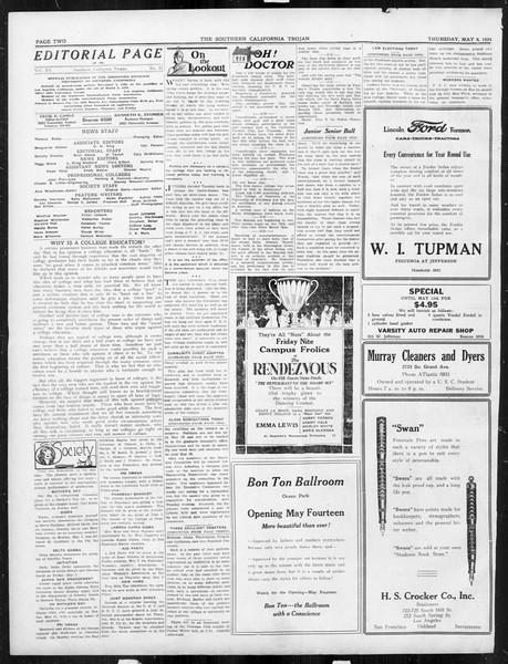 The Southern California Trojan, Vol. 15, No. 82, May 08, 1924