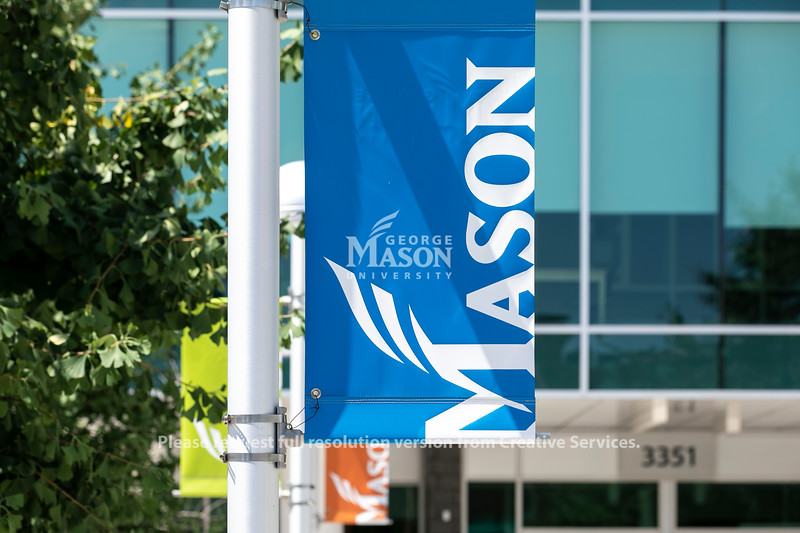 Arlington campus signs. Photo by:  Ron Aira/Creative Services/George Mason University
