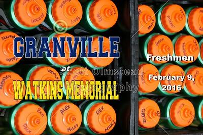 2016 Granville at Watkins Memorial (02-09-16) Freshmen
