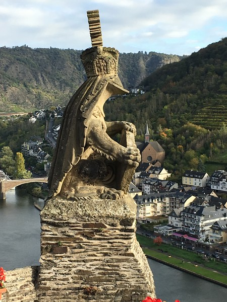 Giant frog on Cochem castle