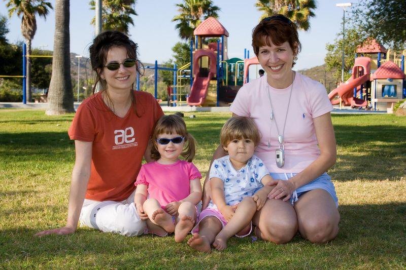 6/24 - Adel, Lili, Maja and Heni at the playground
