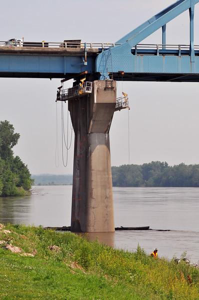 Missouri River Rising Leavenworth & Atchison Ks