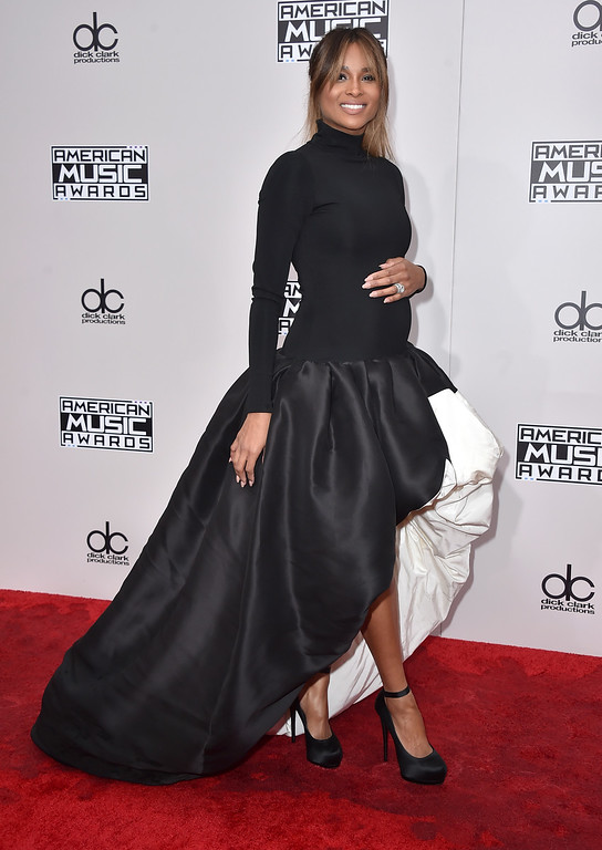 . Ciara arrives at the American Music Awards at the Microsoft Theater on Sunday, Nov. 20, 2016, in Los Angeles. (Photo by Jordan Strauss/Invision/AP)