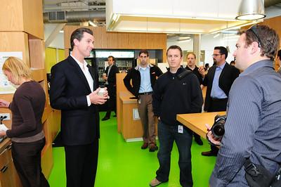 Gavin Newsom at Google