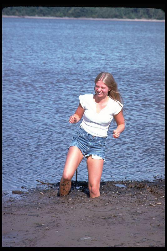 Kathy in mud