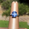 Vintage-Inspired and Contemporary 3.03ct Blue Sapphire Ring (GIA, No-Heat)) 6