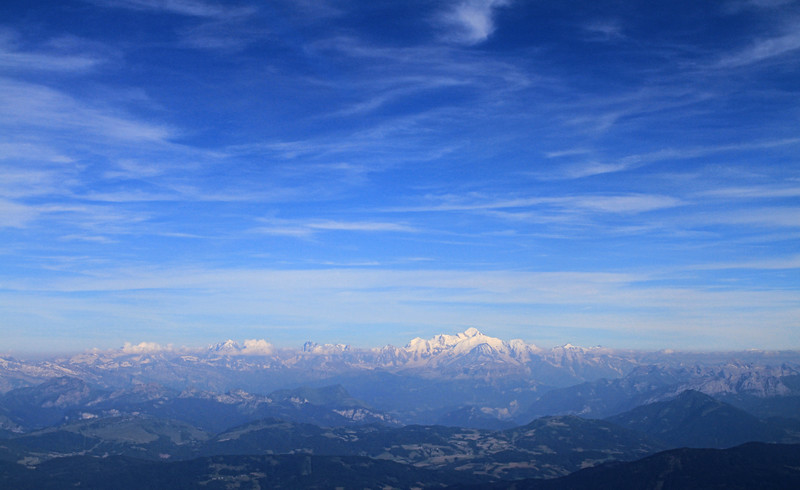 Last views of Mont Blanc from the airplane