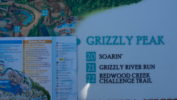 Disneyland Resort, Disney California Adventure, Guide, Map, Grizzly, Peak, Airfield, Soarin, Soarin', Around, World