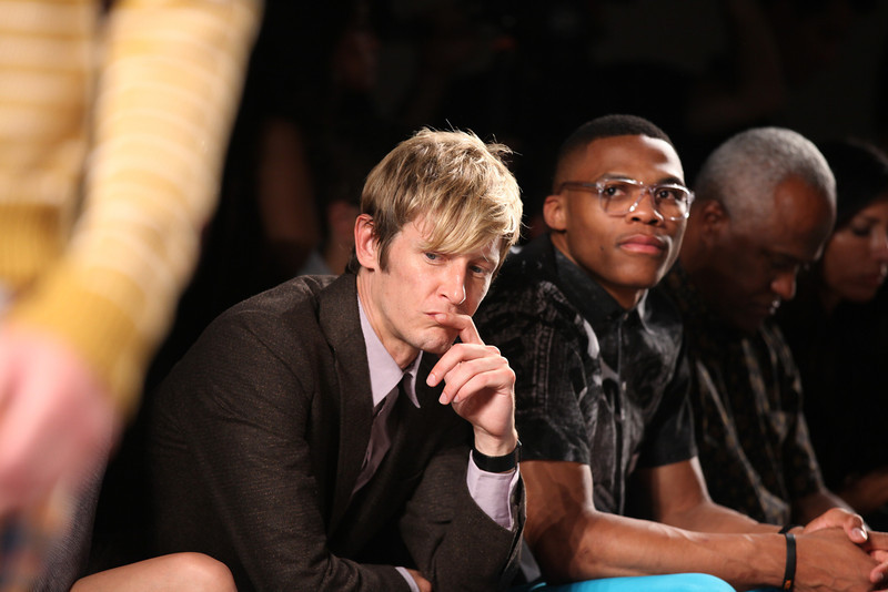 NEW YORK, NY - SEPTEMBER 07:  (L-R) Actor Gabriel Mann, NBA athlete Russell Westbrook and agent Thad Foucher attend Billy Reid's spring 2013 fashion show during Mercedes-Benz Fashion Week at Eyebeam on September 7, 2012 in New York City.  (Photo by Chelsea Lauren/Getty Images)