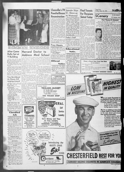 Daily Trojan, Vol. 45, No. 5, September 25, 1953