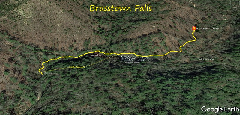 Brasstown Falls Hike Route Map