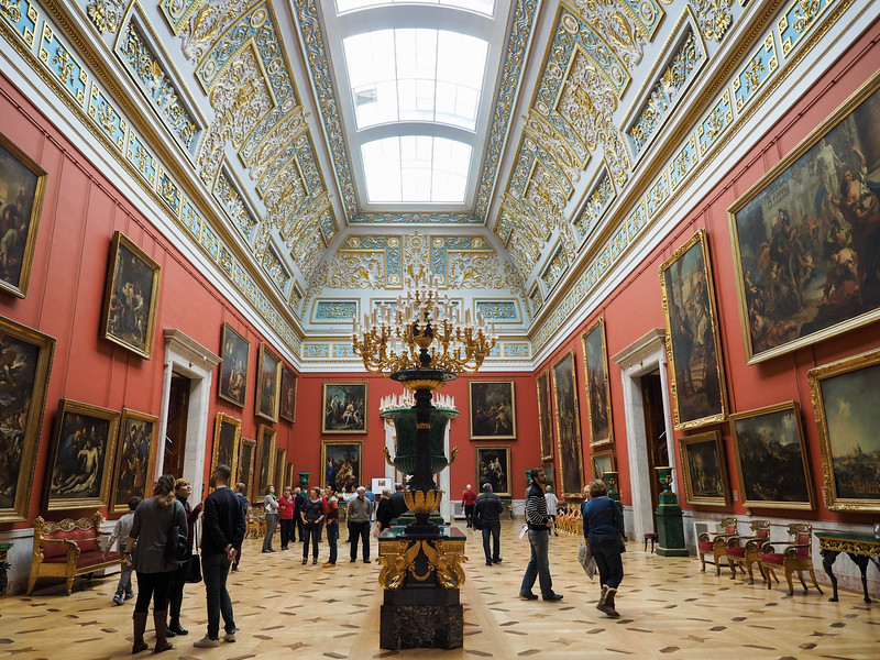 Inside the Hermitage Museum in St. Petersburg
