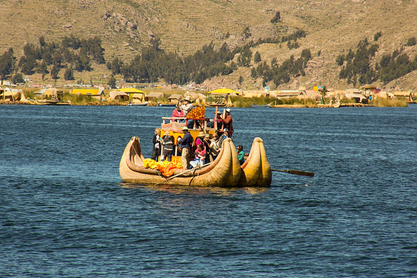 A boat ride to the Uros floating islands of Lake Titicaca - May, 2015