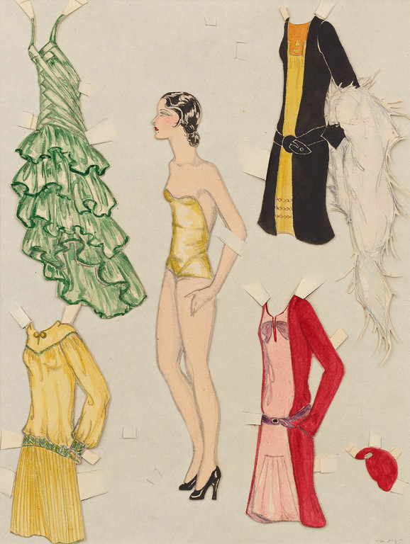 . Paper Doll Model With Outfits, c. 1930s. Photograph by Josh White. Copyright 2013 Eames Office, LLC (eamesoffice.com)