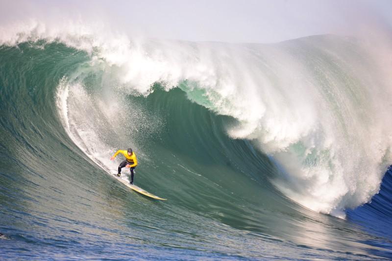 Big Wave Champion Greg Long at Mavericks.