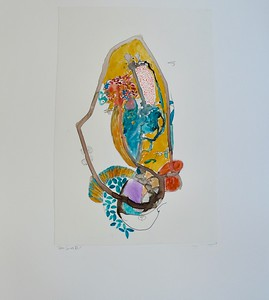 "Deco Series VI-Mackey, painting on 22""x30"" paper"