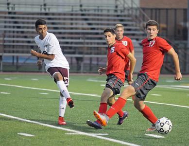 Morton varsity soccer plays Deerfield at home