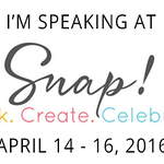 I'm Speaking at Snap! This April 14 - 16, 2016. Come join me!
