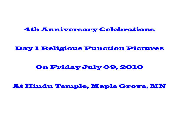 4th Anniversary Celebrations - Day 1 Religious