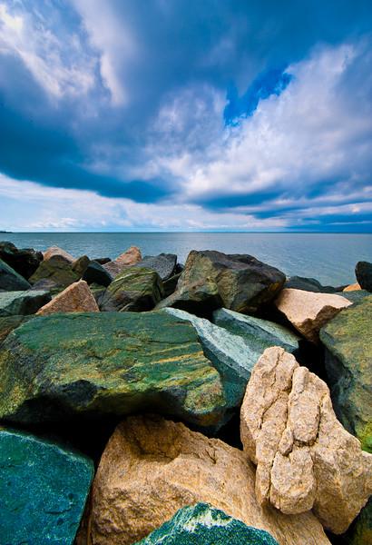 COLORED ROCKS & SKY