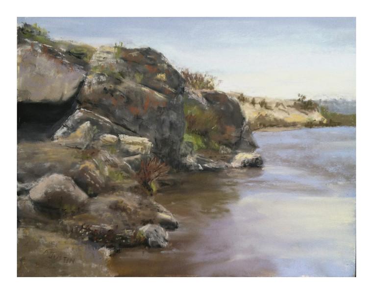 """Missouri River Rocks  9"""" x 12"""""""