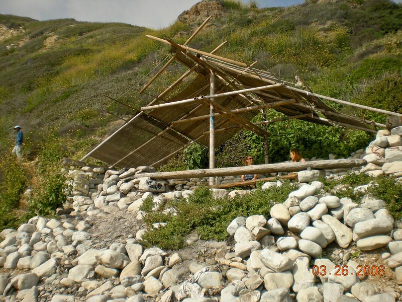 Beach shelter. Nice place to take a brake.