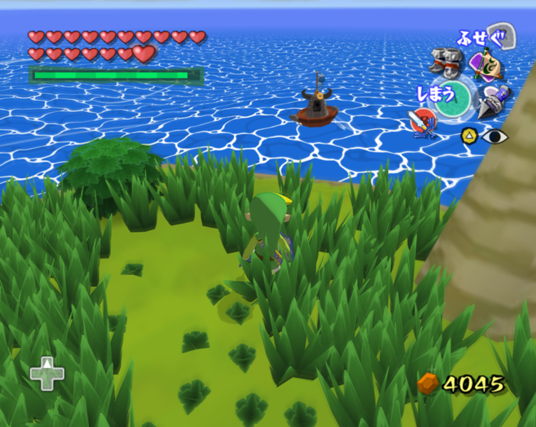 Wind Waker - Ship firing Cannon at shore