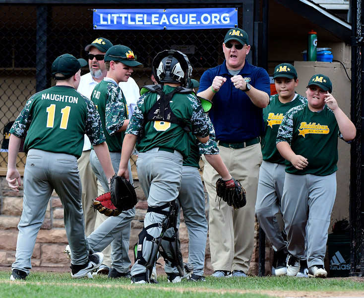 8/8/2018 Mike Orazzi | Staff Middletown New Jersey Little League during Wednesday's game with Mid Island at Breen Field in Bristol.