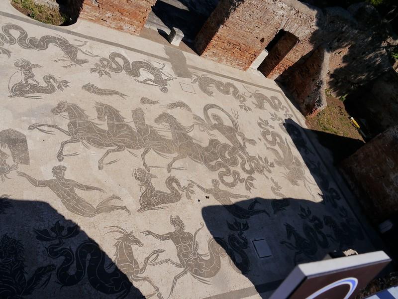 Neptune mosaic in the Ostian baths